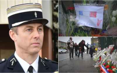France pays tribute to hostage swap police hero