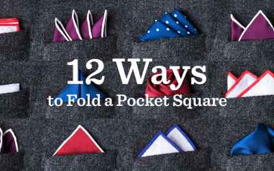 12 Ways To Fold A Pocket Square | Handkerchief for Jacket Chest Pocket