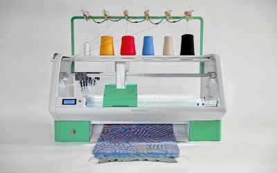 The Kniterate Digital Knitting Machine Is A 3D Printer For Sweaters, Scarves & Beanies