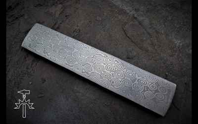 Curious about Making Raindrop Pattern on Damascus Steel? Watch & Learn