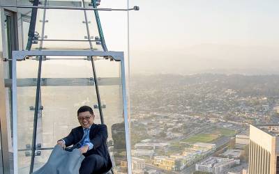 Glass Skyslide opens at the top of LA