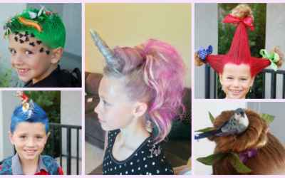 DIY Wacky Hairstyle Tutorials For Crazy Hair Day!